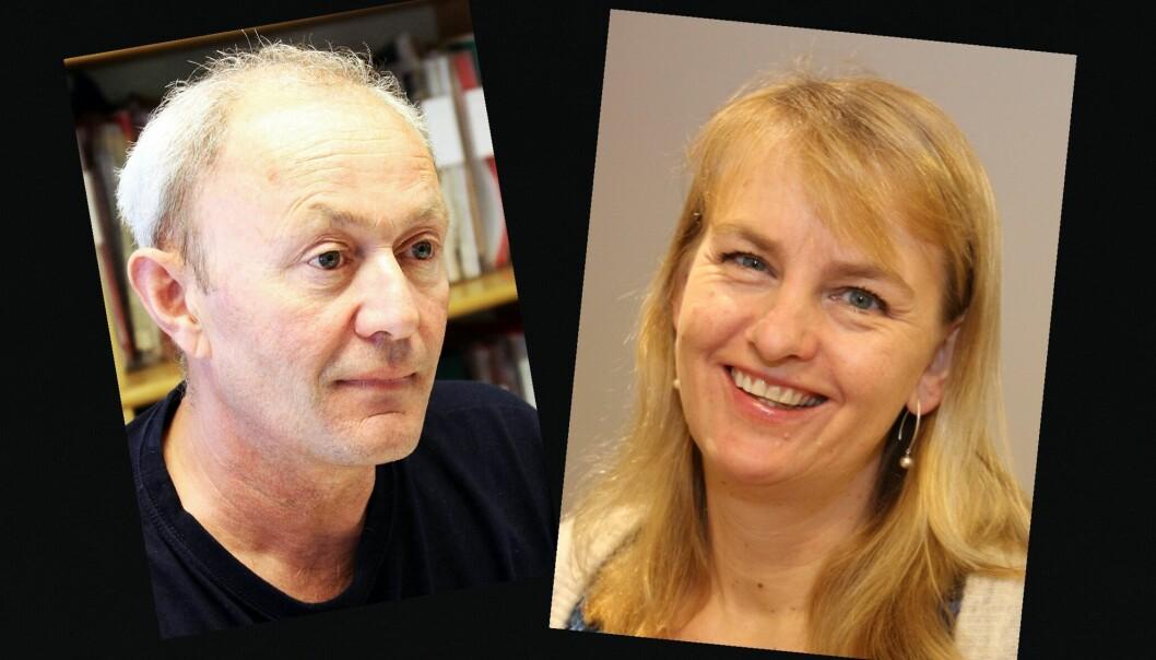 Det kan ende med at NJ-leder Thomas Spence og MBL-direktør Randi S. Øgrey flytter sammen. Foto: MBL og Birgit Dannenberg