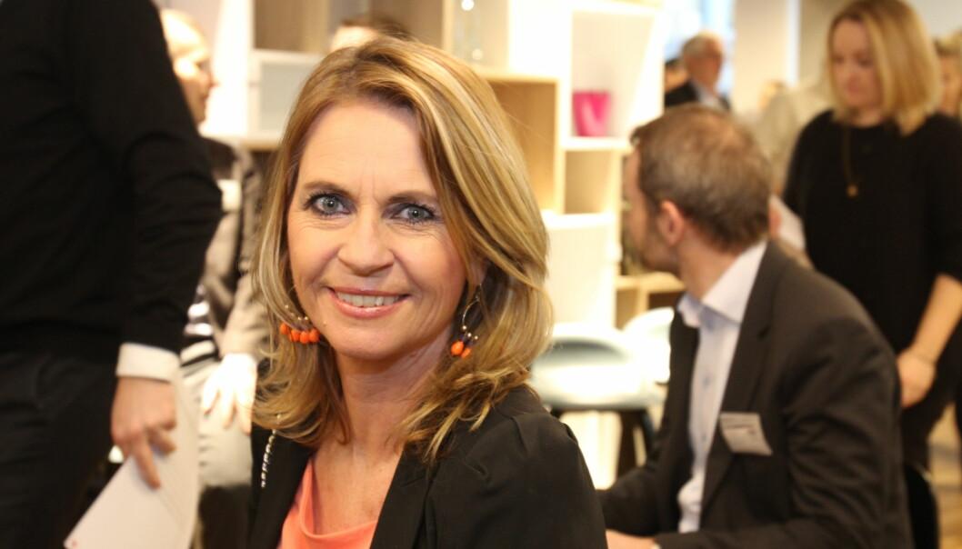 Direktør Ellen Arnstad med ansvar for printutgaver i Aller sier at mediekonsernet er godt skodd for digital vekst med nettsteder som Dagbladet, KK, Seher og Dinside. Foto: Martin Huseby Jensen