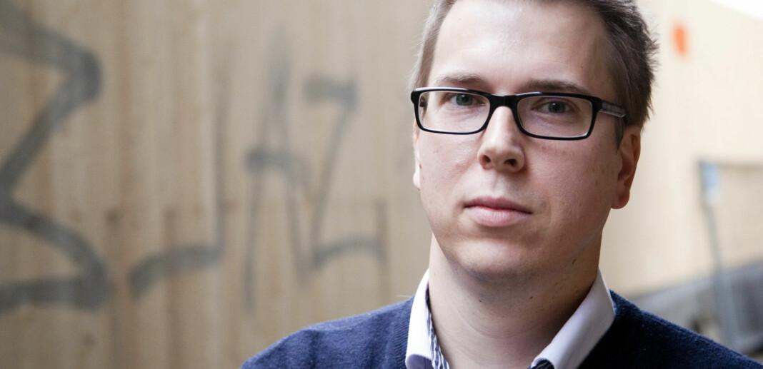 Eirik Hoff Lysholm, sjefredaktør og administrerende direktør i Dagsavisen, melder om oppkjøp. Foto: Kathrine Geard