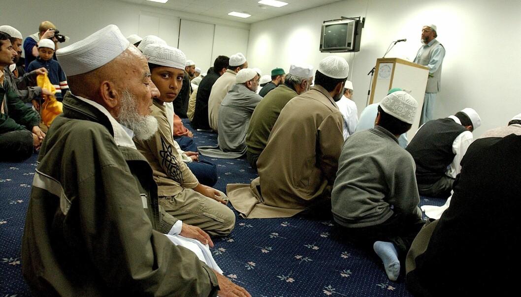 Fredagsbønn i moskeen i Åkebergveien i Oslo. Arkivfoto: Espen Braata