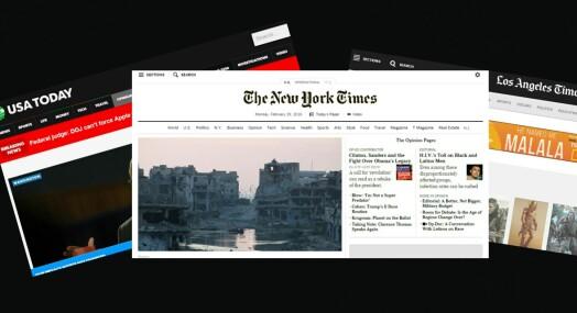 Åtte av ti nettaviser i USA tar betaling fra leserne