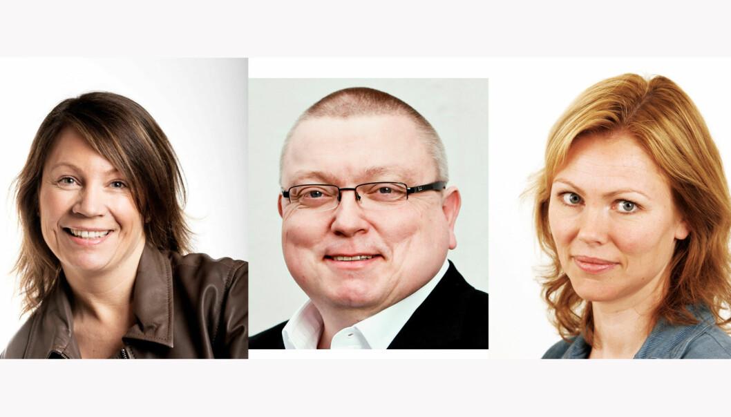 Kjersti Sortland, Ole Petter Pedersen og Silje Hovland. En av dem blir årets redaktør.