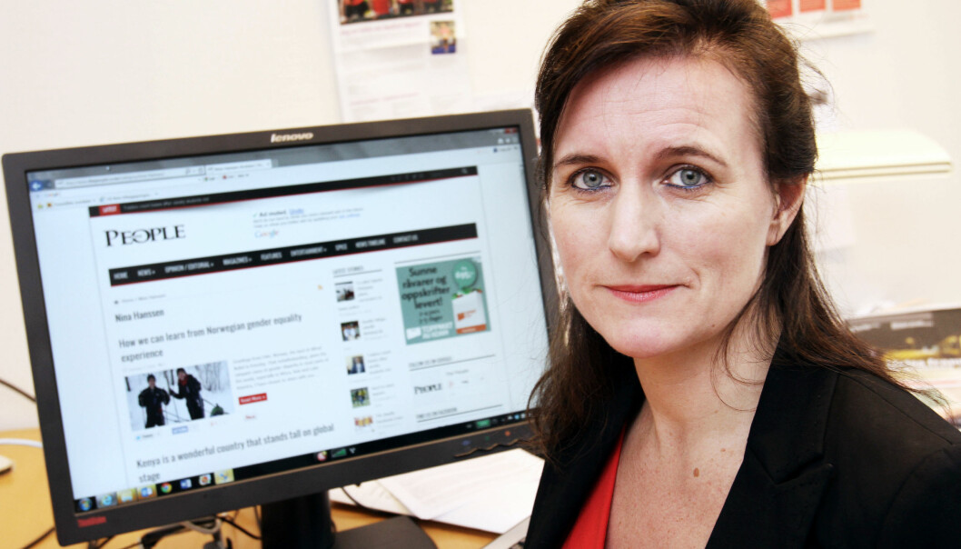 Leder Nina Hanssen og styret i Arbeiderbevegelsens Presseforbund vil helst beholde LO som eier i Amedia. Foto: Birgit Dannenberg