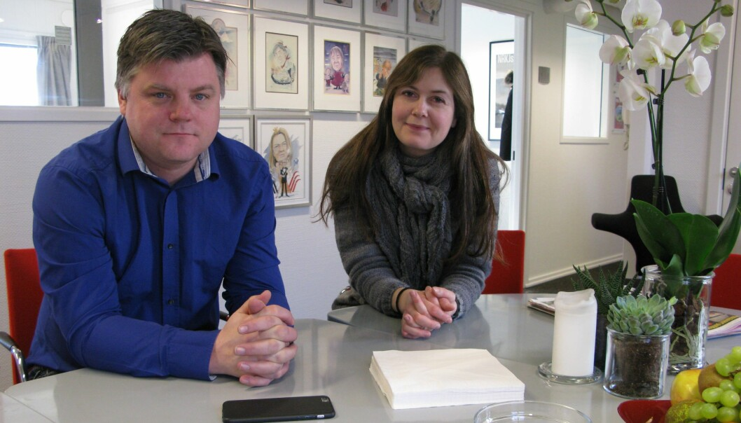 NRKJ, her representert ved leder Richard Aune og 2. nestleder Hege Fagerheim, har meldt NRK inn til Arbeidstilsynet for brudd på arbeidsmiljøloven. Foto: Bjørn Åge Mossin
