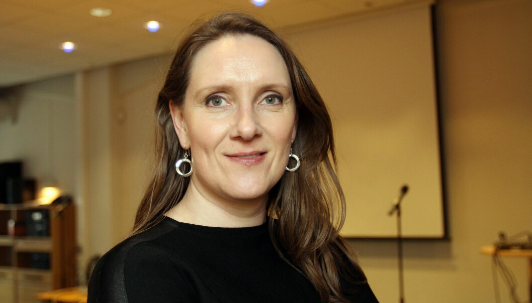 – Det er en del dyktige ledere som har gått i Amedia, konstaterer konserntillitsvalgt Eva Stenbro. Foto: Birgit Dannenberg
