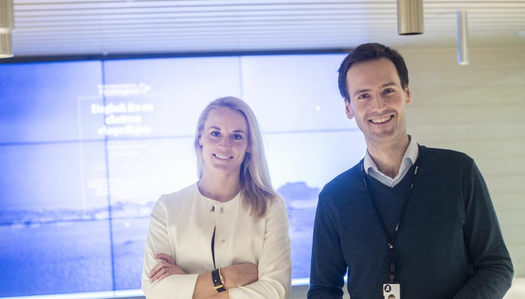 Kommersiell leder Oddrun Cecilie Svegaarden og innholdssjef Lars Magne Sunnanå. Foto: Aftenposten