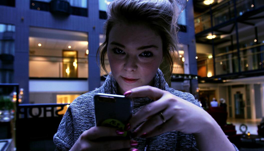 Monica Irén Solberg Susegg opplever Snapchat som en god inngang til Trønder-Avisa for yngre lesere. Minst en sak skal oppfylle samfunnsoppdraget. Foto: Martin Huseby Jensen