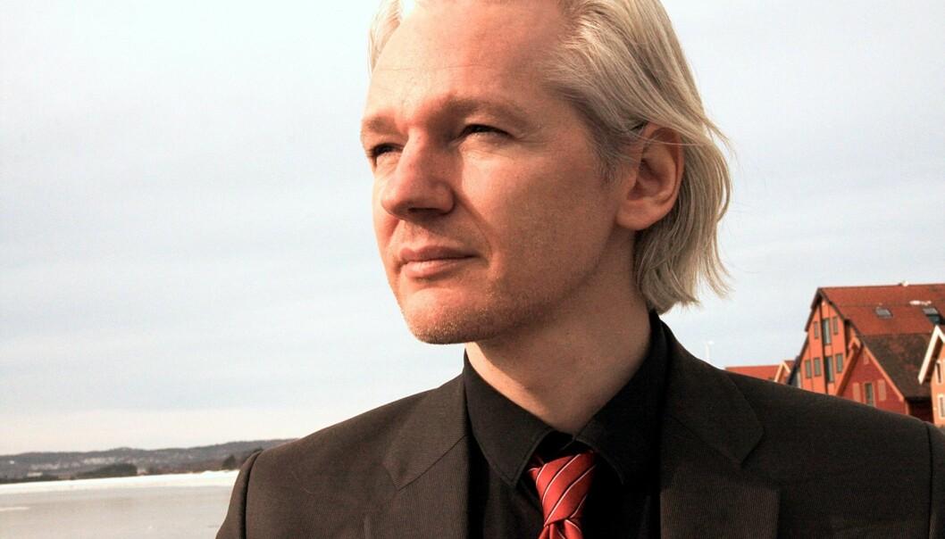 Julian Assange da han gjestet gravekonferansen Skup i Norge i 2010. Foto: Espen Moe