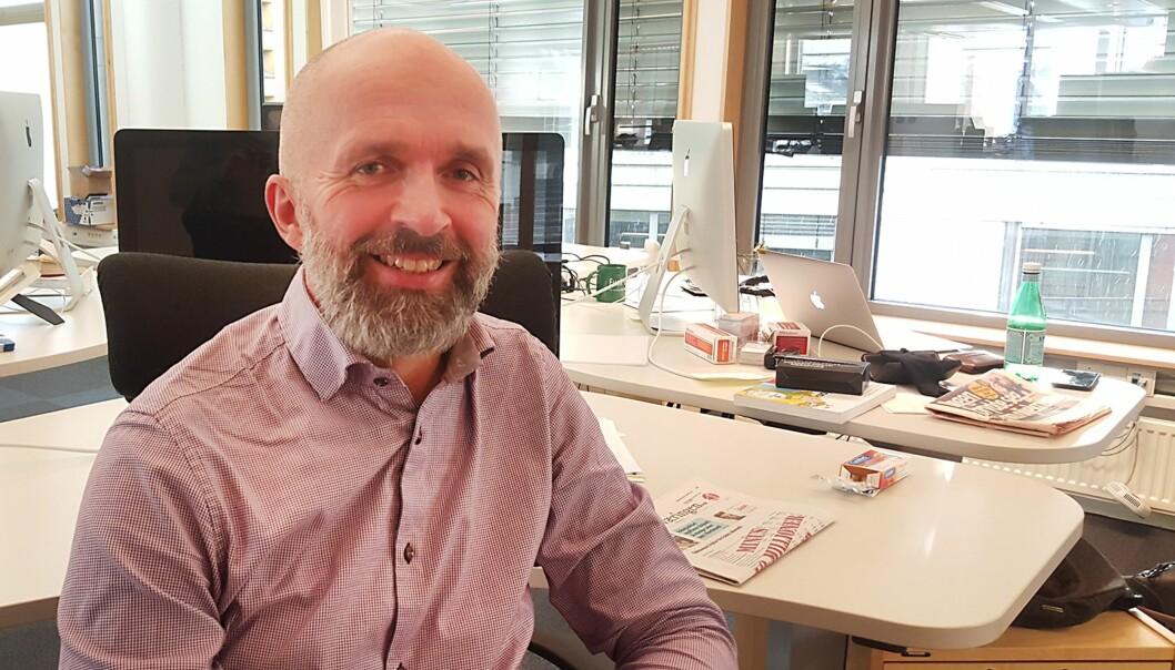 Ansvarlig redaktør og daglig leder Terje Olsen i AS Lokalavisene ble paff da Vestnytt fikk produksjonstilskudd i fjor. Foto: Torbjørn Aasheim, AS Lokalavisene