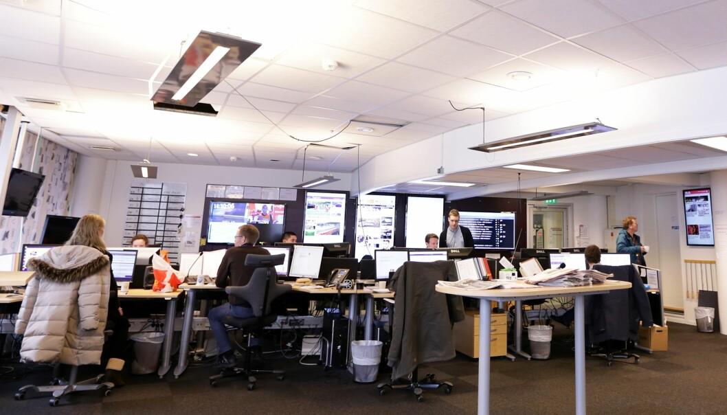 Jobb ved distriktsredaksjonen til NRK Hordaland frister mange nedbemanningstruede journalister i Bergens Tidende. Simen Sundfjord Otterlei, NRK