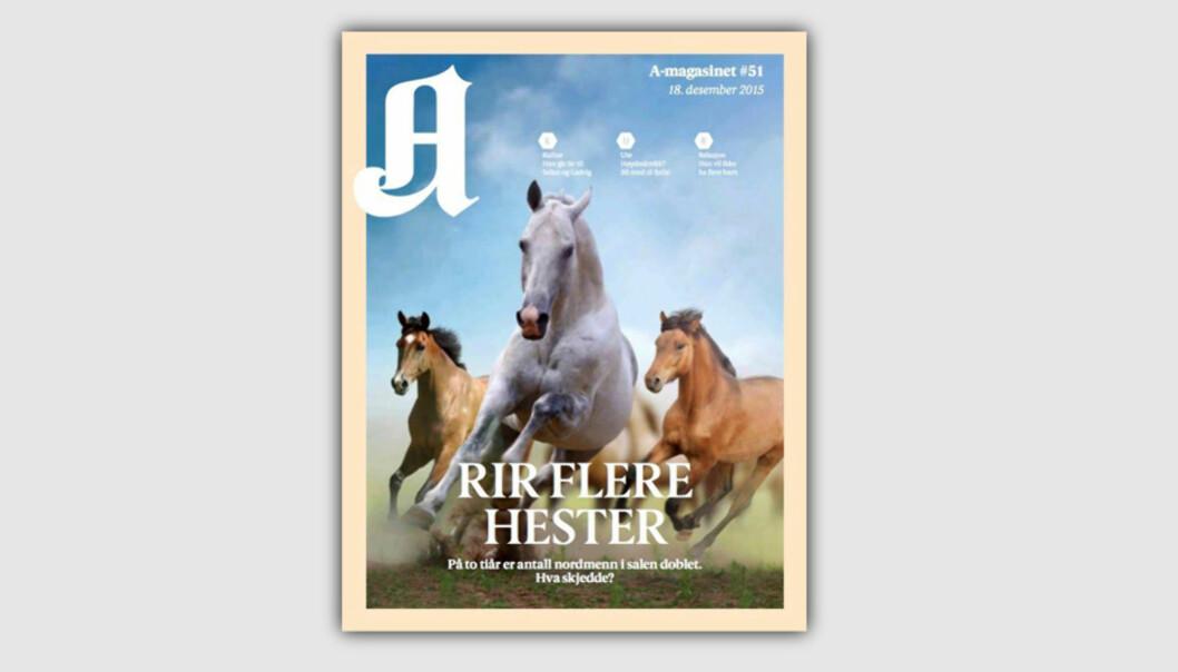 Faksimile A-magasinets forside 18. desember 2015.
