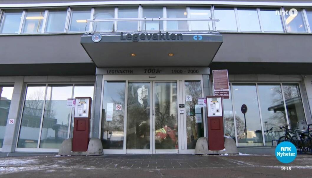 Bilde fra den sendte reportasjen. Foto: NRK Dagsrevyen