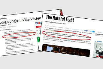 Journalist erkjenner plagiat av filmanmeldelser fra NRK