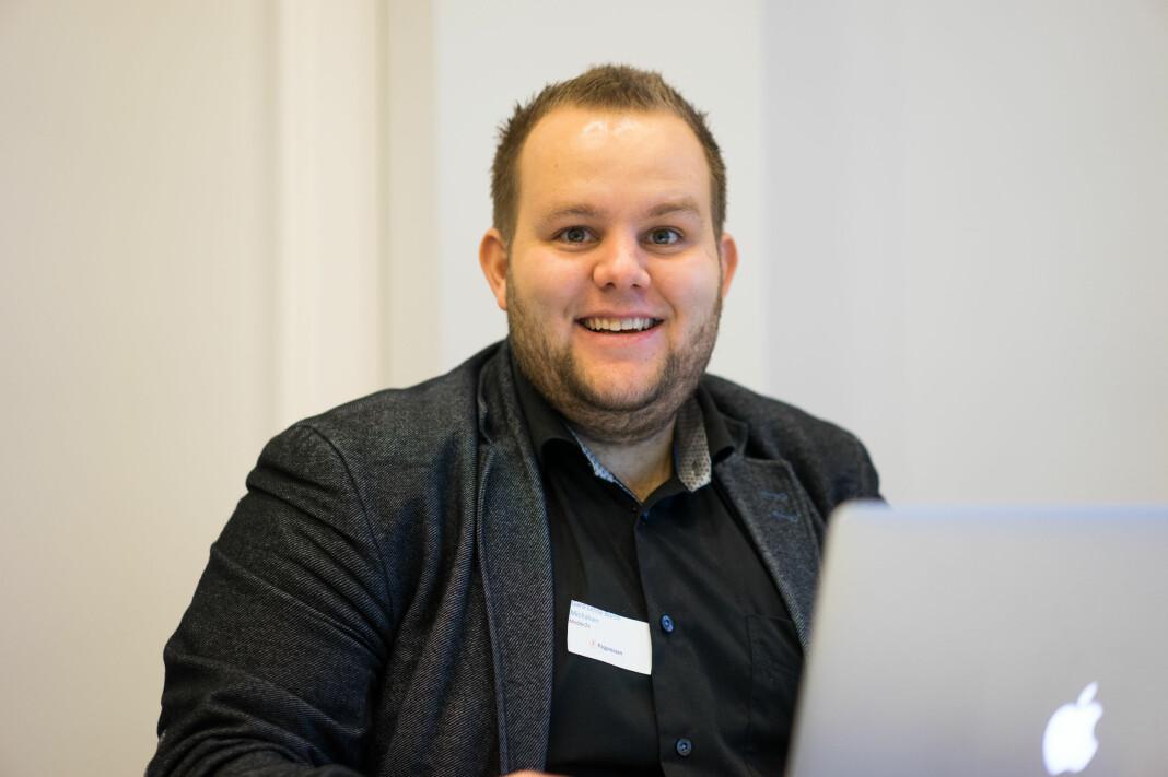 E24-redaktør Gard L. Michalsen avviser påstandene til Dagens Næringsliv. Arkivfoto: Helge Øgrim