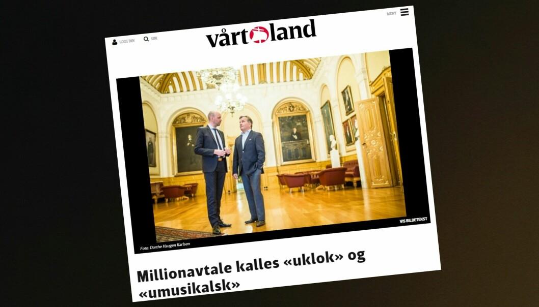 Sjefredaktør Helge Simonnes ville ikke la seg intervjue av egne journalister i forbindelse med denne artikkelen i Vårt Land 18. november. Under forklarer han hvorfor.