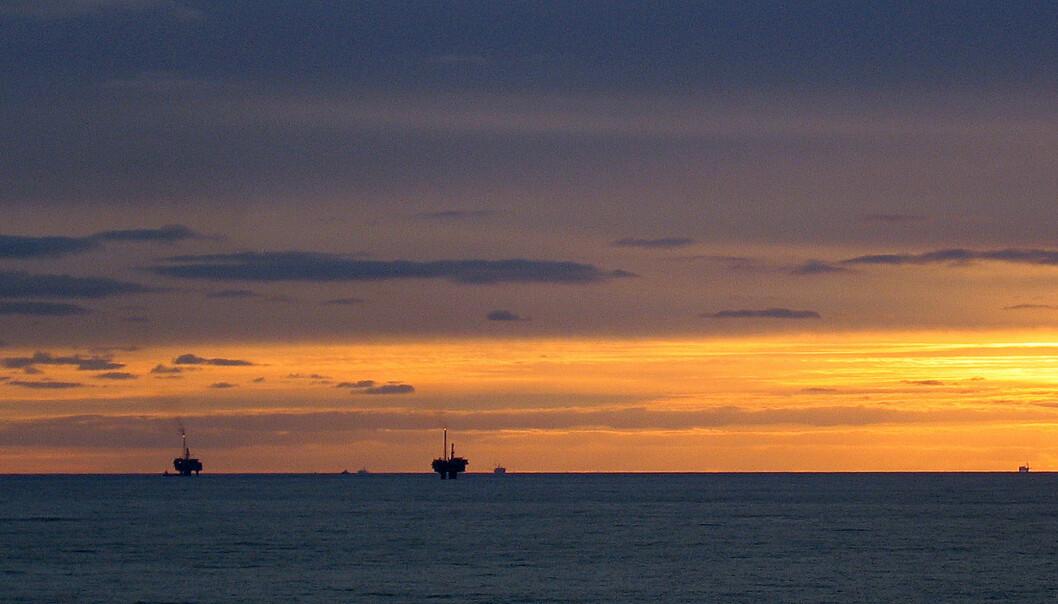 Ordet «oljesmell», her representert ved oljefeltet Statfjord, måtte se seg slått av den harde konkurrenten «det grønne skiftet». Foto: Bjørn Vidar Lerøen/Norsk olje og gass/Flickr.com
