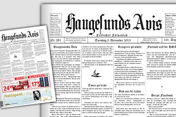 Haugesunds Avis feirer 120 år med «gammel» forside