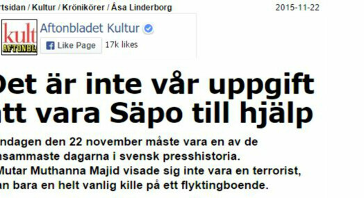Svenske medier navnga uskyldig