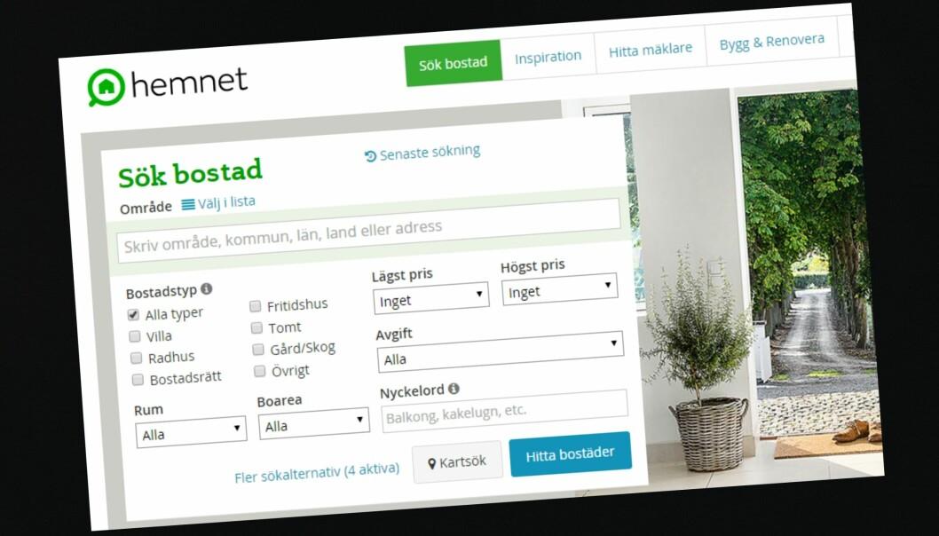 Schibsted ønsker å kjøpe den suksessrike nettjenestene Hemnet.se