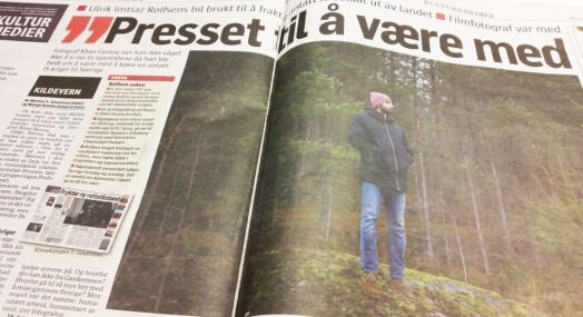 Rolfsens medregissør: Kanskje uklokt og i grenseland å delta på biltur med mulig IS-rekrutt til Sverige
