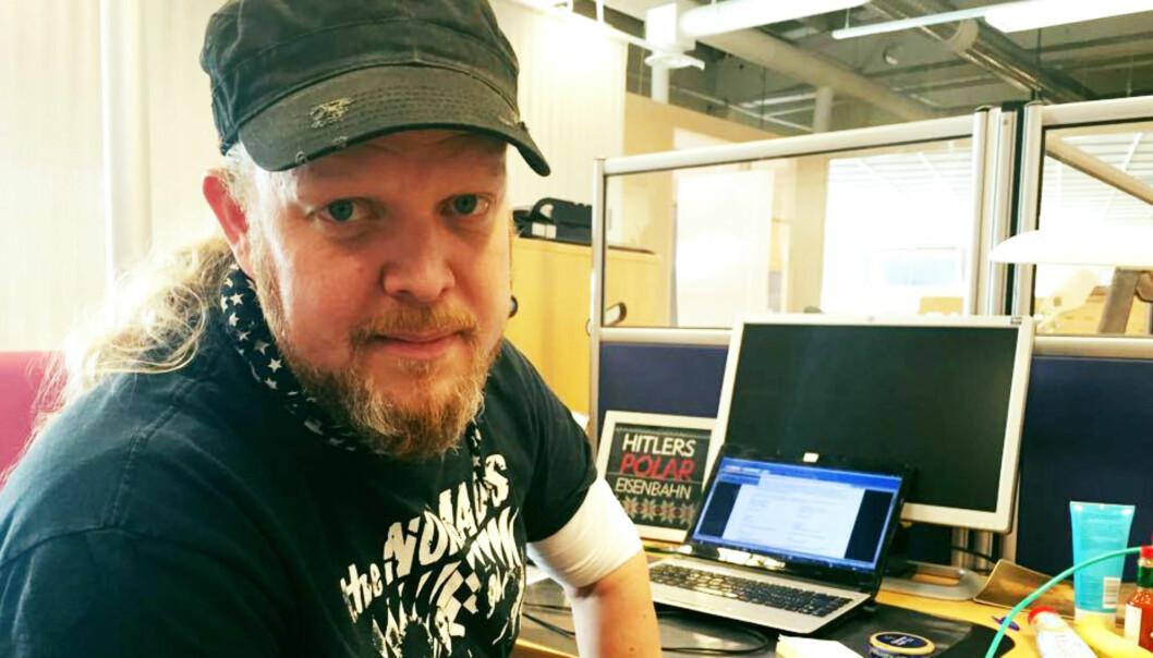 Egon Holstad har sammen med de ansatte i iTromsø og tidligere platesjappe-kollega Helge Skog lansert musikkseksjon. Foto: privat