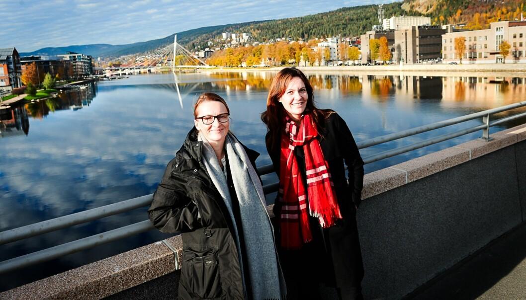Politisk redaktør Karianne Braathen (t.v.) og ansvarlig redaktør Kristin Monstad. Foto: Drammens Tidende
