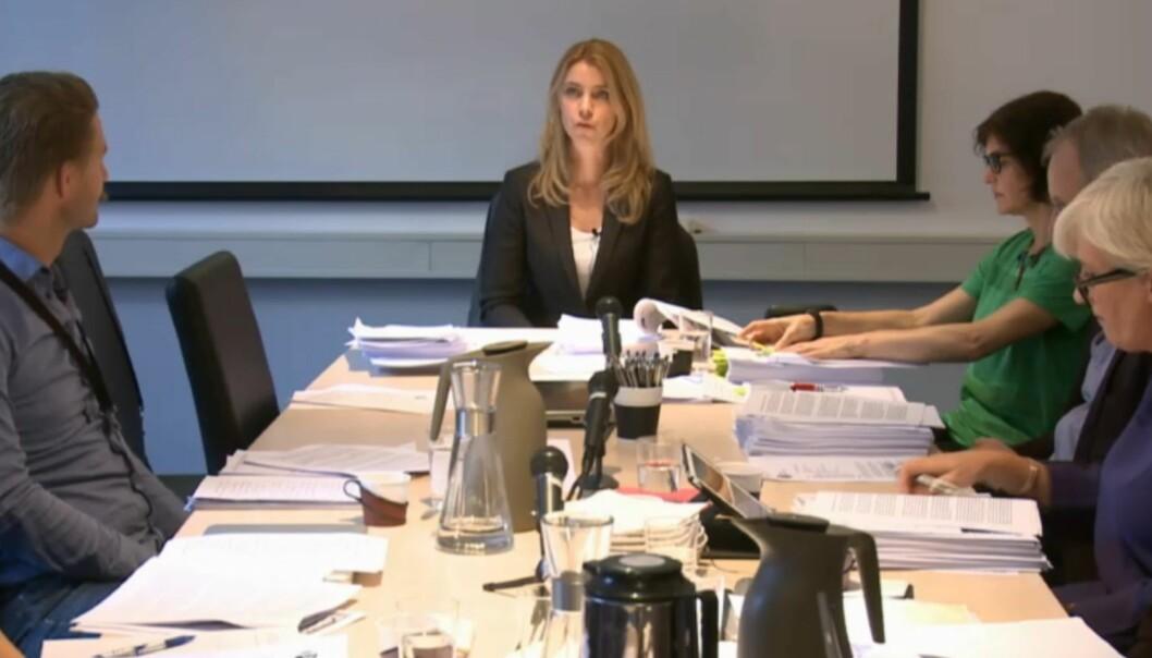 Pressens Faglige Utvalg ble ledet av Alexandra Beverfjord under behandlingen av