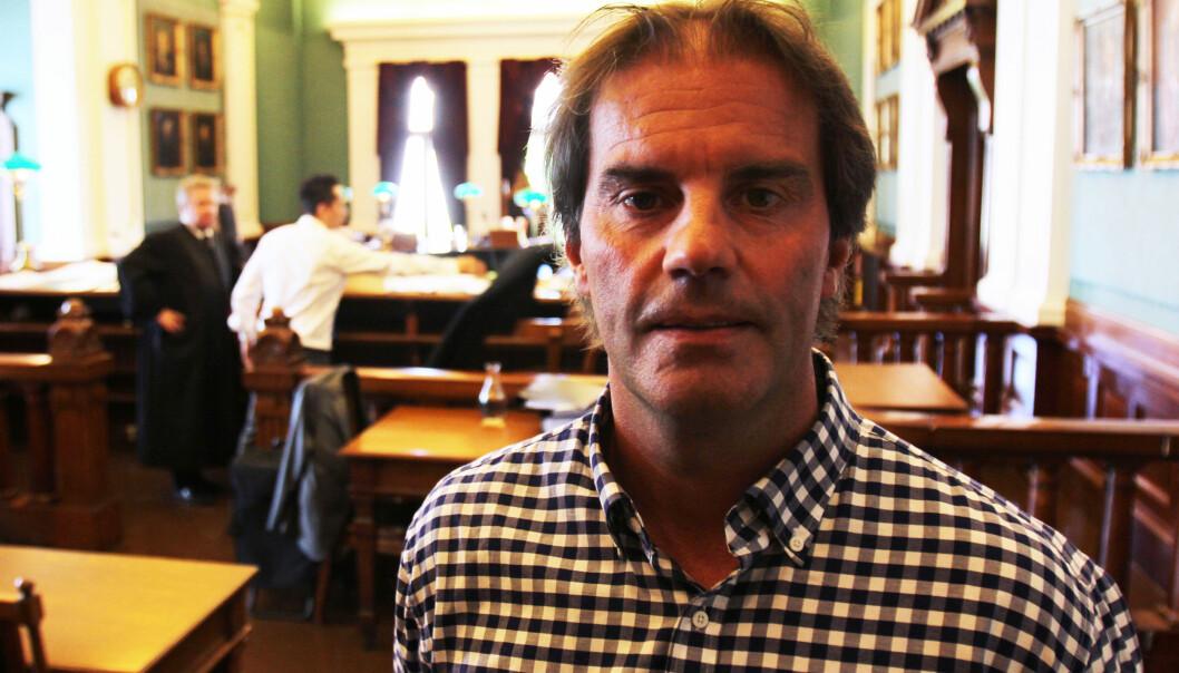 Morgan Andersen i Høyesterett da Aftenposten ble frifunnet tidligere i år. Foto: Martin Huseby Jensen