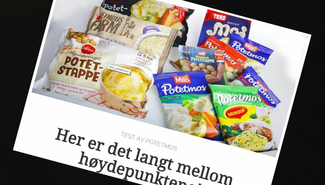 Reklamen stjeler våre klær og hermer uhemmet, skriver testansvarlig Morten Solli i Klikk.no. Illustrasjon: Skjermdump av ordinær forbrukerjournalistikk hos Klikk.no
