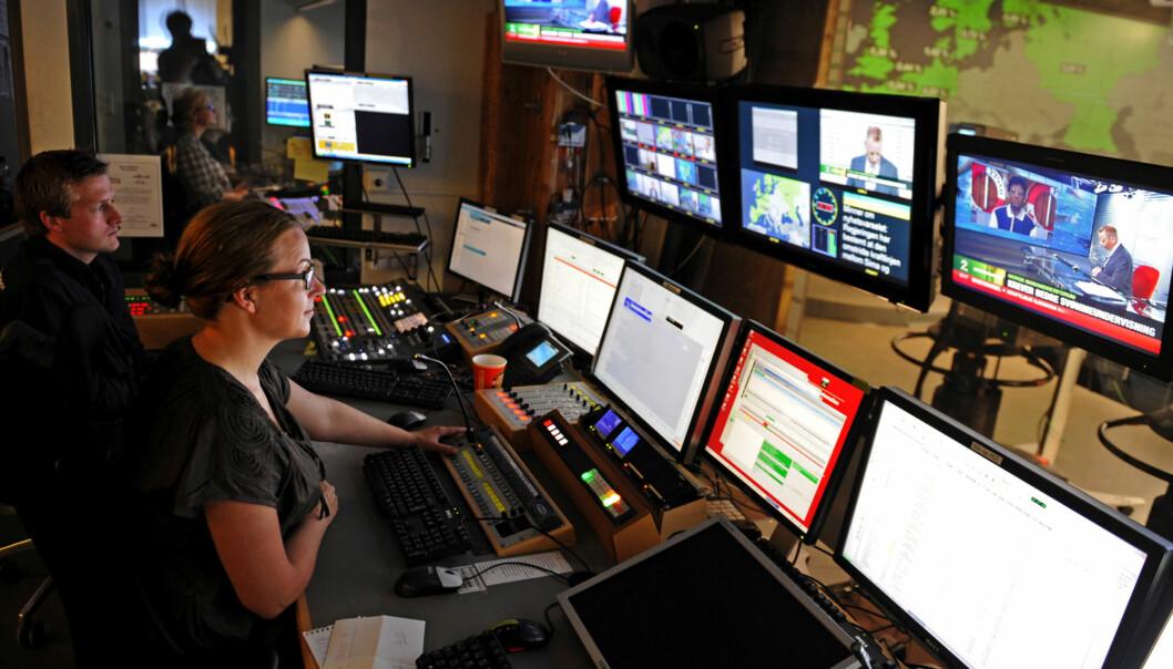 Kommersielle tv-kanaler, her eksemplifisert ved TV 2 Nyhetskanalen, øker stadig sine driftsinntekter. Foto: Helge Skodvin