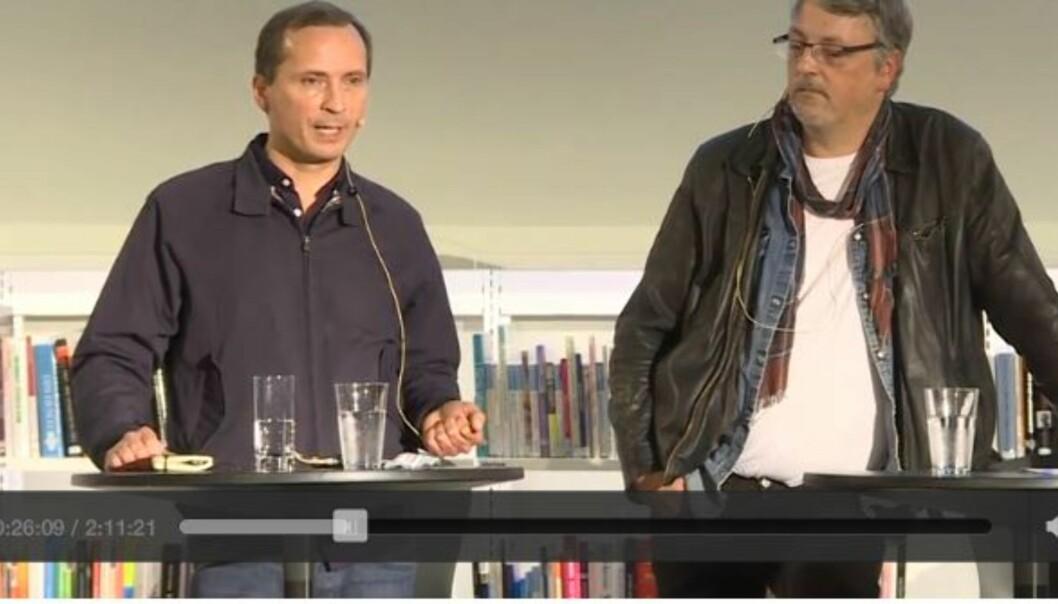 Forfatter og journalist Morten Strøksnes under en debatt om kulturhuset i fjor høst.