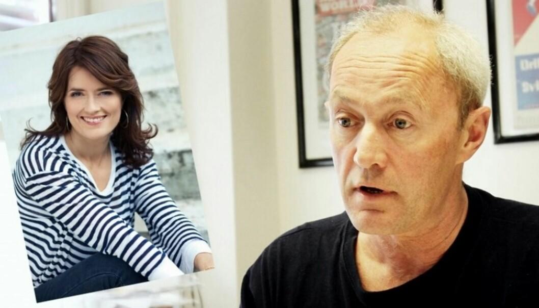 NJ-leder Thomas Spence er forundret over at Egmont-redaktør Kjersti Mo er blant finalistene til prisen som Årets kvinnelige medieleder. Foto: Birgit Danneberg og Egmont Publishing