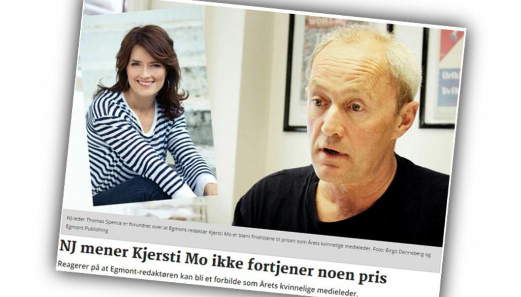 Skjermdump av Journalistens.nos artikkel 2. oktober i år.