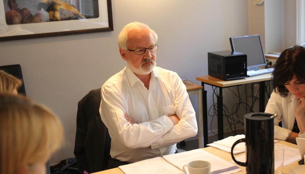 Styreleder Gunnar Kvassheim i Norsk Presseforbund er blant redaktørene med aksjer for over én millioner kroner. Foto: Glenn Slydal Johansen