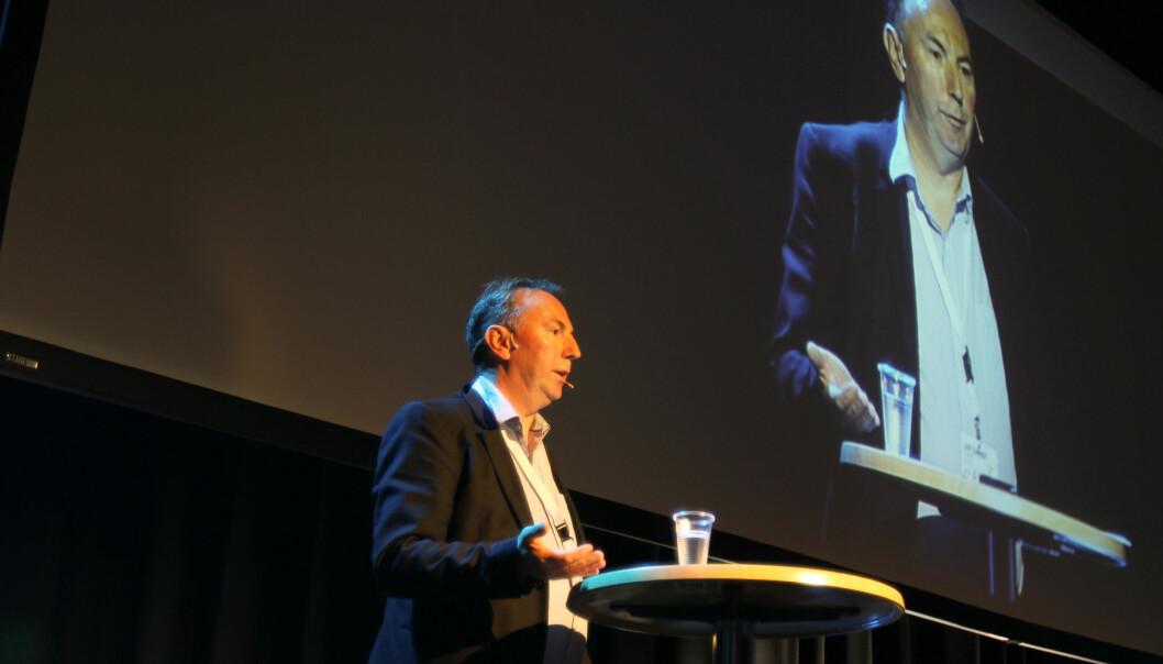 Aftenposten-journalist og Skup-leder Jan Gunnar Furuly. Her under åpningen av den internasjonale gravekonferansen på Lillehammer tidligere i høst. Foto: Helge Øgrim
