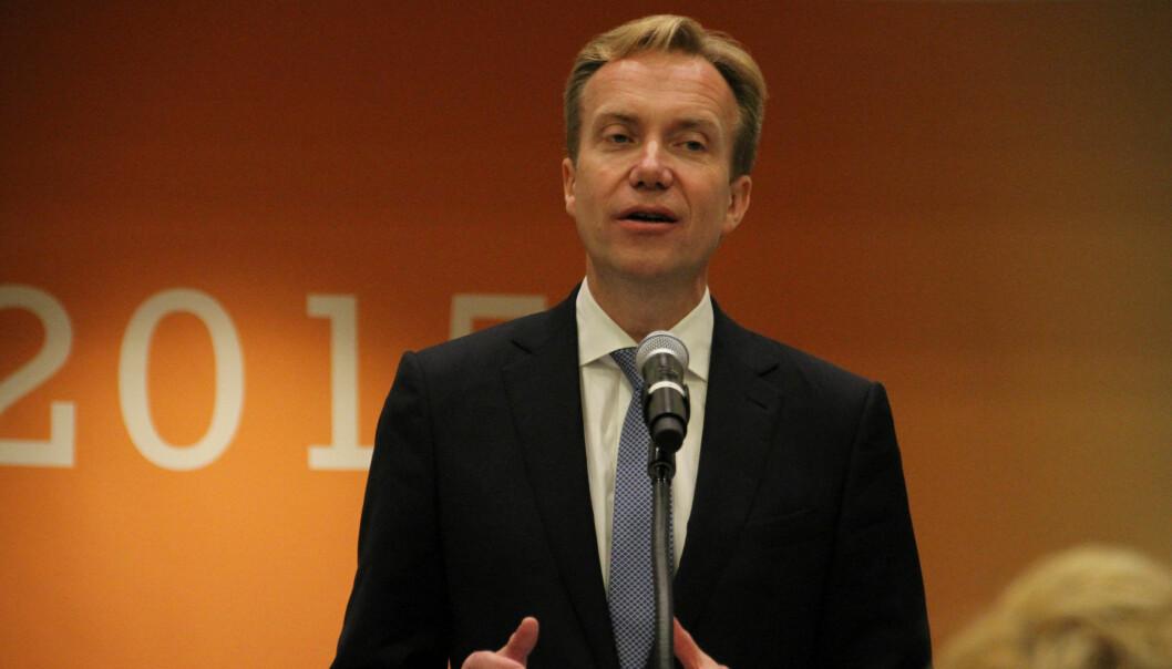 Utenriksminister Børge Brende. Foto: Utenriksdepartementet/Flickr.com