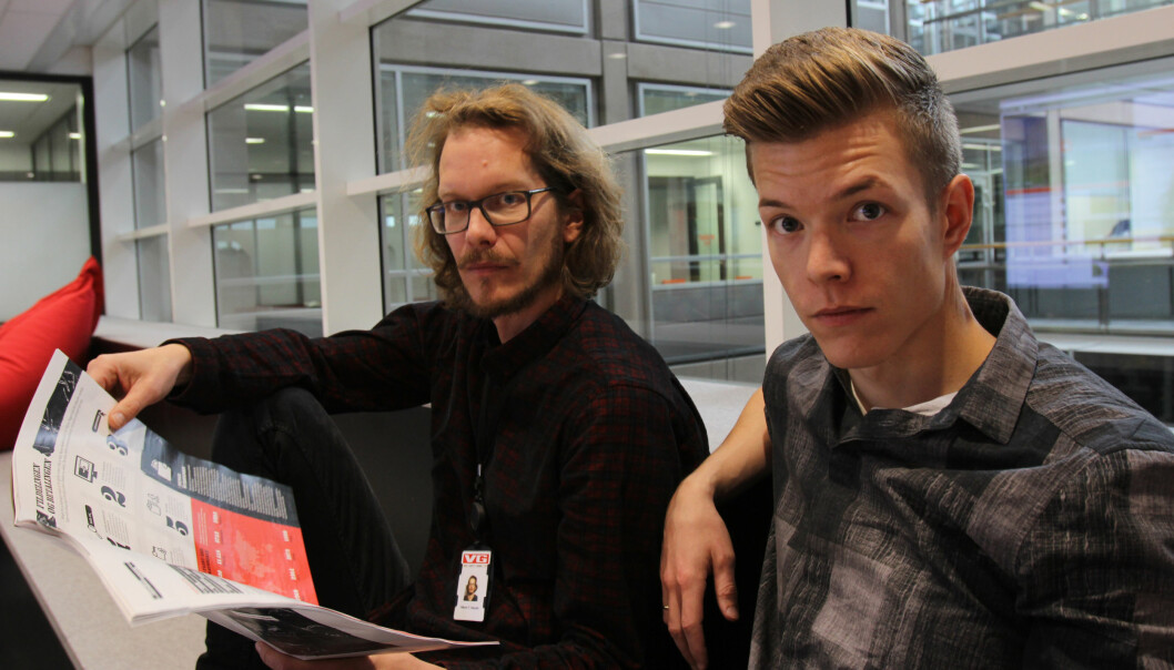 Håkon Høydal og Einar Stangvik dagen før VG Helg kommer på gaten med dokumentaren Nedlasterne. Foto: Martin Huseby Jensen