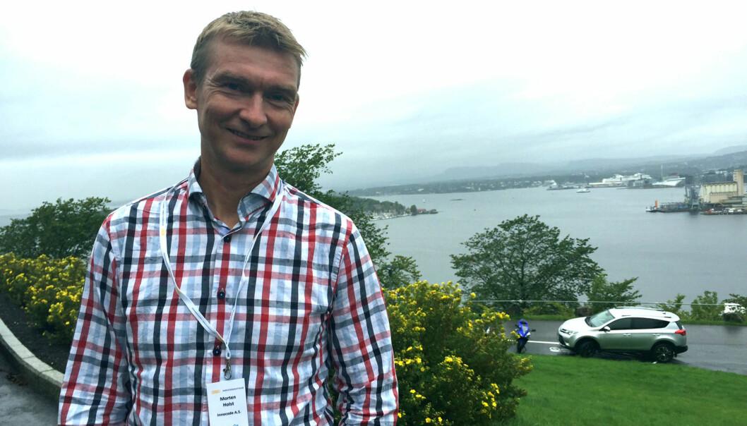 Morten Holst. Strategiansvarlig i Innocode AS. Foto: Vivian Stensrud.