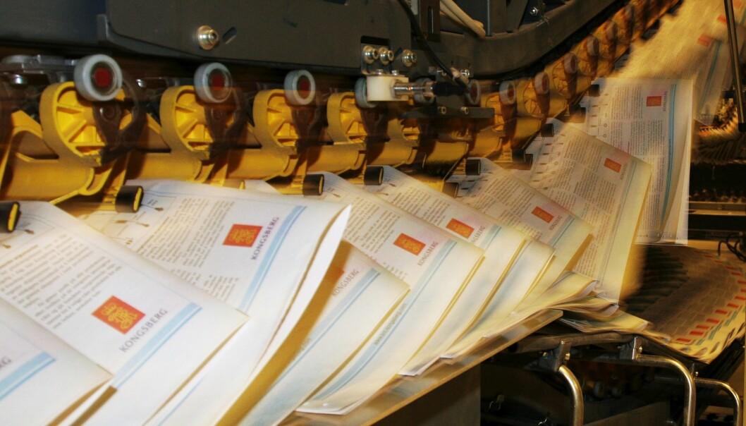 Schibsted legger ned trykkeriet på Flesland ved Bergen. Illustrasjonsfoto: Birgit Dannenberg