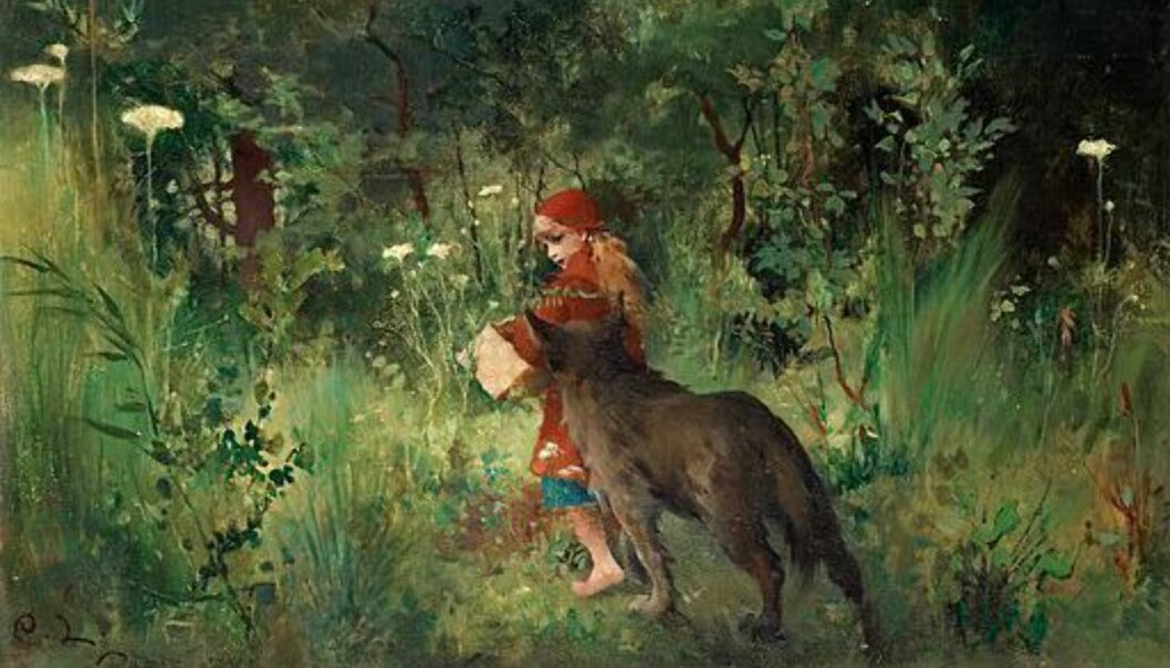 Carl Larsson - Little Red Riding Hood, 1881 / Wickimedia Commons