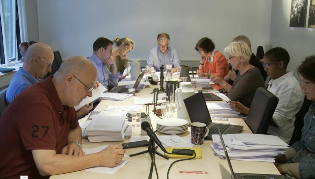 """PFU delte seg i synet på NRK-dokumentaren """"Den siste reisen"""". Foto: Tor Torgersen/streaming"""