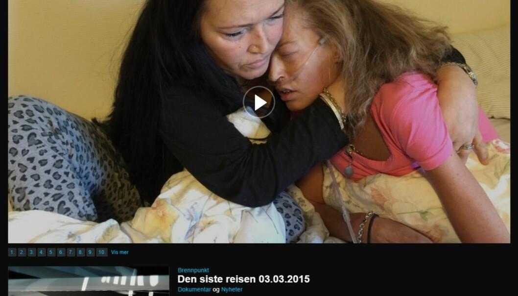 Skjermbilde fra Brennpunkts dokumentar. Foto: NRK