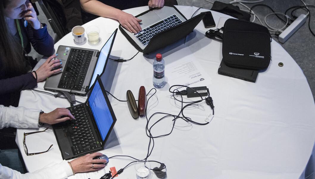 Fra økt under Nordiske Mediedager om datastøttet journalistikk Foto: Jarle H. Moe jarlehm.com / Nordiske Mediedager