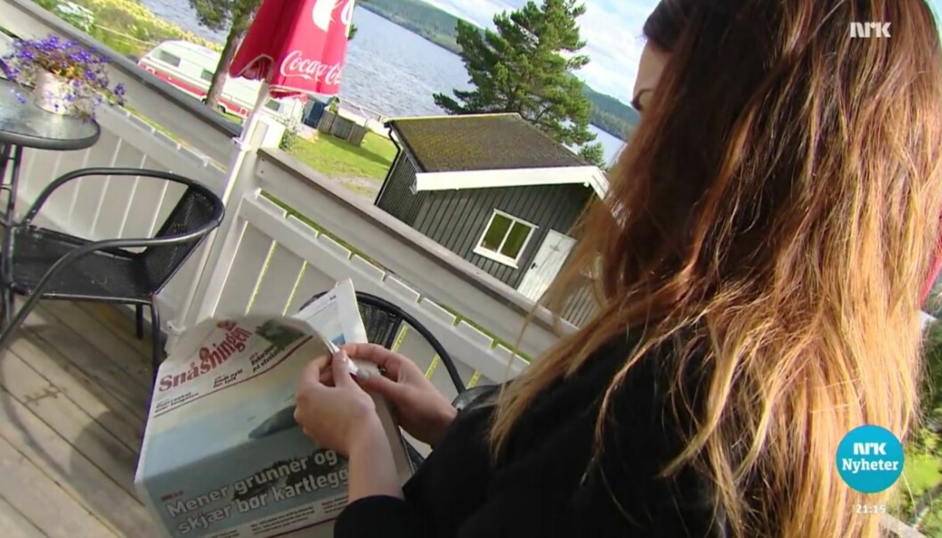 Lokalavisa Snåsningen ble behørig sitert og kreditert av NRK. Skjermdump fra NRK Dagsrevyen 10. august