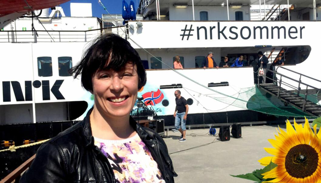 Ingeborg Volan var mannskap på NRKs Sommerbåten i Nord-Norge tidligere i sommer og er om bord igjen på Sørlandet denne uka. Foto: Privat