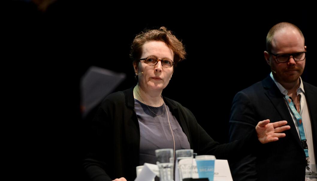 Featureredaktør Gry Egenes i Dagens Næringsliv. Her under Skup tidligere i år. Foto: Marius Nyheim Kristoffersen
