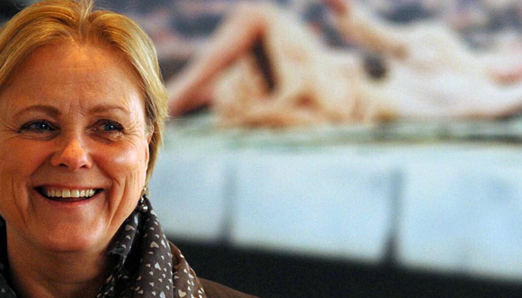 Kulturminister Thorhild Widvey får flertall for å frata Medietilsynet avgjørelsen i saker som gjelder eierskap i mediebransjen. Foto: Martin Huseby Jensen