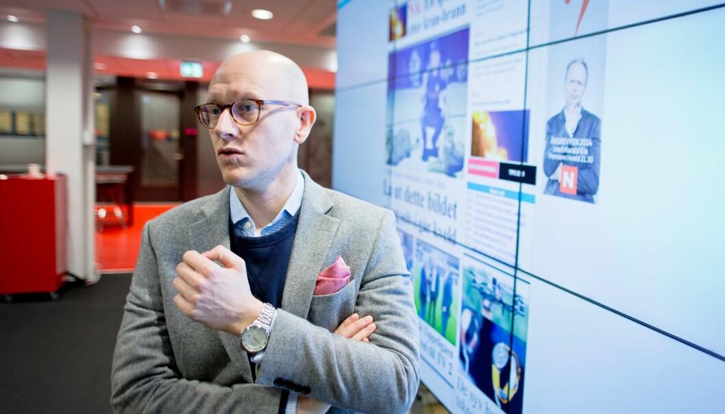 Digitalredaktør Ola Stenberg forteller Tl;dr avvikles i disse dager. Foto: Kristoffer Kumar/VG.