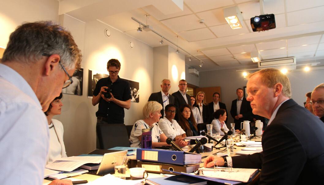 Det var stor pressepågang før PFU satt igang arbeidet med monsterklagen. Foto: Martin Huseby Jensen
