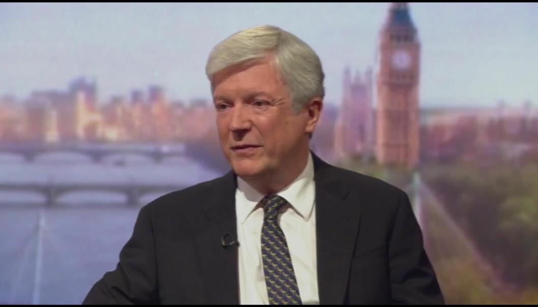 BBCs kringkastingsjef Tony Hall gjestet nylig kanalens The Andrew Marr Show. Skjermdump BBC